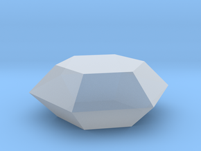 hexagonal ring stone in Smooth Fine Detail Plastic