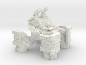 Quad Mech Heavy Missile Carrier in White Natural Versatile Plastic