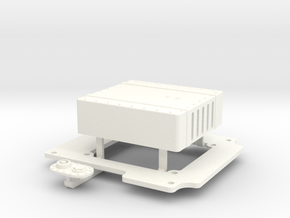 FUEL TANK for Axial Wraith Fastback conversion kit in White Processed Versatile Plastic