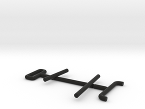 1/64 Green modern tractor railings in Black Natural Versatile Plastic