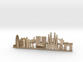 Tie Clip Barcelona in Polished Gold Steel