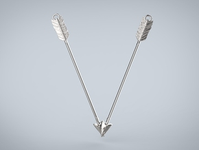 Archer Valentine Pendant in Polished Silver