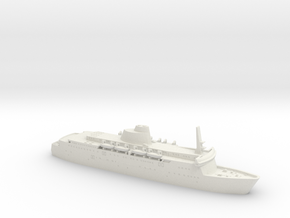 15cm Long MV St George in White Natural Versatile Plastic