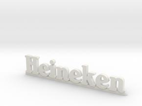Heineken logo (n-scale) in White Natural Versatile Plastic