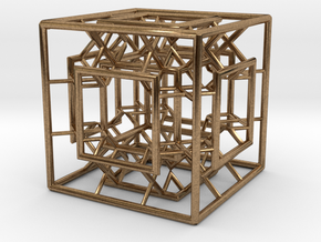 Menger Mixed Cube in Natural Brass