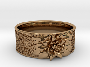 In Bloom in Polished Brass