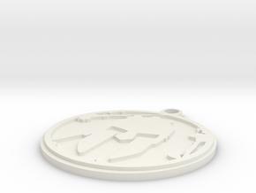 Spartan Keychain in White Natural Versatile Plastic