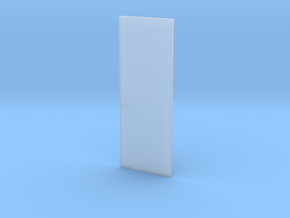 3o8o Single Flush Door w/ Lever + Deadbolt 1:48 in Smooth Fine Detail Plastic