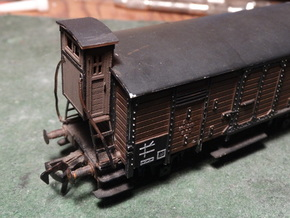 HO/OO Brakeman's Cab Replacement x2 in Smooth Fine Detail Plastic: Small