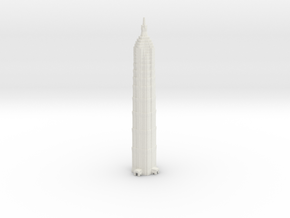 Jin Mao Tower - Shanghai (1:4000) in White Strong & Flexible
