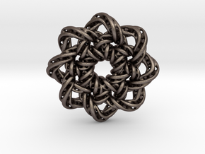 circular1 in Polished Bronzed Silver Steel