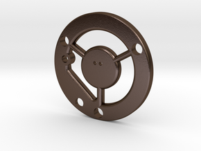 Graflex chassis bottom metal v1 in Polished Bronze Steel