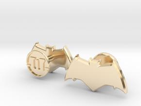 Batman cufflinks - v2 in 14K Yellow Gold