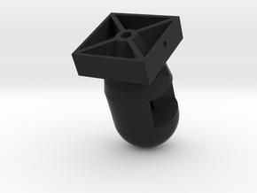 Atomic Tritium Keychain, Tritium Insert  in Black Premium Versatile Plastic