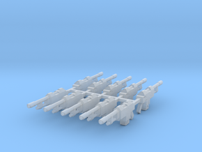 M35 Galaxy Lasgun no stock (10 pack) in Smooth Fine Detail Plastic