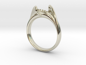 Tension setting solitaire NO STONES SUPPLIED in 14k White Gold