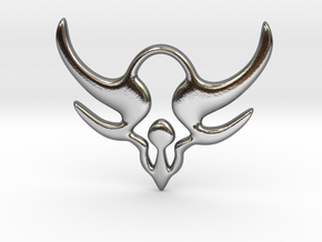 """""""Horns of power"""" Pendant in Polished Silver"""