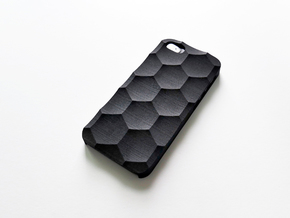 iPhone SE/5S Case_Hexagon in Black Strong & Flexible