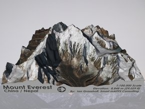 """Mount Everest: 6""""x6"""" in Glossy Full Color Sandstone"""