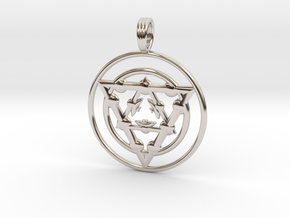 TARGET ENERGY in Rhodium Plated Brass