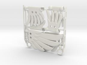 Poseable Wing Set for ModiBot in White Natural Versatile Plastic