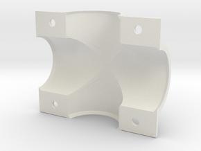EC 44 Head Tube X Shell, Left in White Natural Versatile Plastic