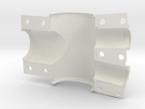 Rear BB mold shell, bottom in White Natural Versatile Plastic