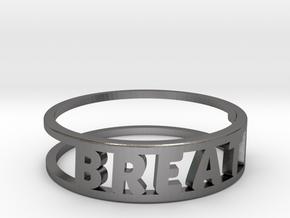 Breathe, Nickel Steel (Chain Optional) in Polished Nickel Steel: 10 / 61.5