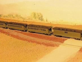 Nn3 Passenger Train 4 cars in Smooth Fine Detail Plastic