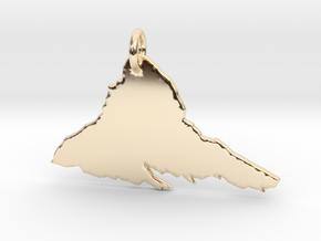 Matterhorn Necklace in 14k Gold Plated Brass