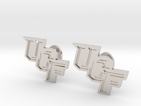 UCF Cufflinks, Customizable in Rhodium Plated Brass
