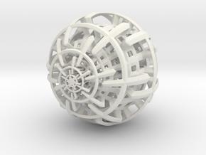 Out of Cage in White Natural Versatile Plastic: Medium
