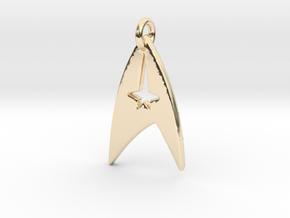 Star Trek - Starfleet Command (Pendant) in 14k Gold Plated Brass