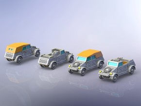 German VW Kübel Variants 2 1/160 in Smooth Fine Detail Plastic