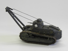 1/87th scale Renault Ft-17 crane in Smooth Fine Detail Plastic