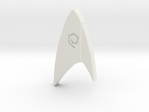 Star Trek Discovery Operations badge in White Strong & Flexible