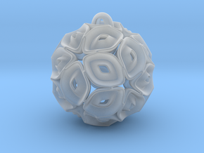 View of spherical games - part three. Pendant in Smoothest Fine Detail Plastic