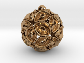 View of spherical games - part three. Pendant in Polished Brass