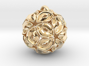 View of spherical games - part three. Pendant in 14k Gold Plated Brass