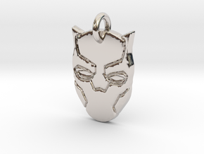 Marvel - Black Panther Pendant in Rhodium Plated Brass
