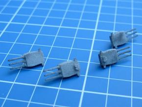 "USS Montana turrets, 16"" guns in White Natural Versatile Plastic"