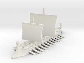 1/700 Trireme in White Natural Versatile Plastic