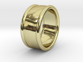 33/6 Erdung / Grounding in 18k Gold Plated Brass: 7.5 / 55.5