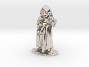Dungeon Master Miniature in Rhodium Plated Brass: 1:55