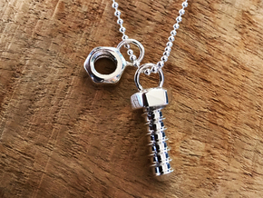 Screw Pendant (Fits with the Bolt Pendant) in Polished Silver