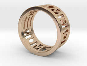 Mum=Champion in 14k Rose Gold Plated Brass