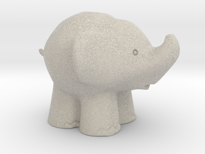 Cute Elephant in Natural Sandstone: Extra Small