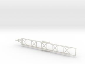 1028 Langmaterialanhänger HO in White Natural Versatile Plastic: 1:87 - HO