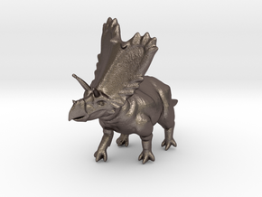 DINO - Pentaceratops in Polished Bronzed Silver Steel