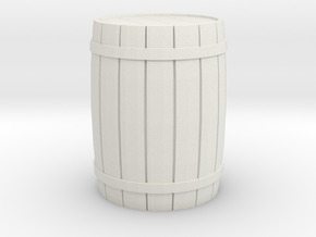 Barrel 28mm Scale in White Natural Versatile Plastic